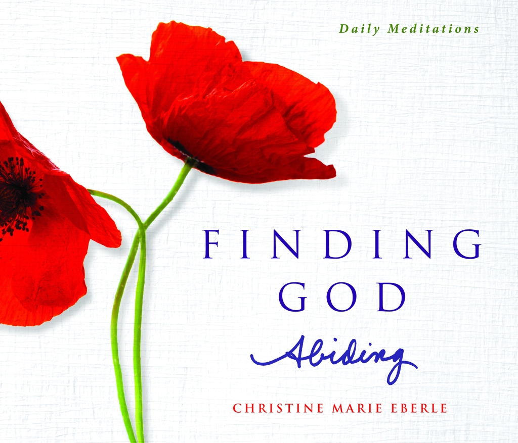 Cover of Finding God Abiding: An image of two poppies and the book title